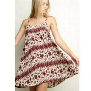 Brandy Melville Gaby Floral Swing Mini Dress D3006